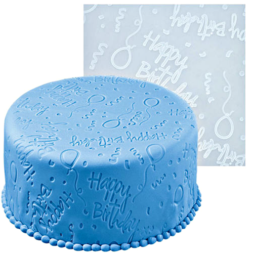 Happy Birthday Fondant Imprint Mat