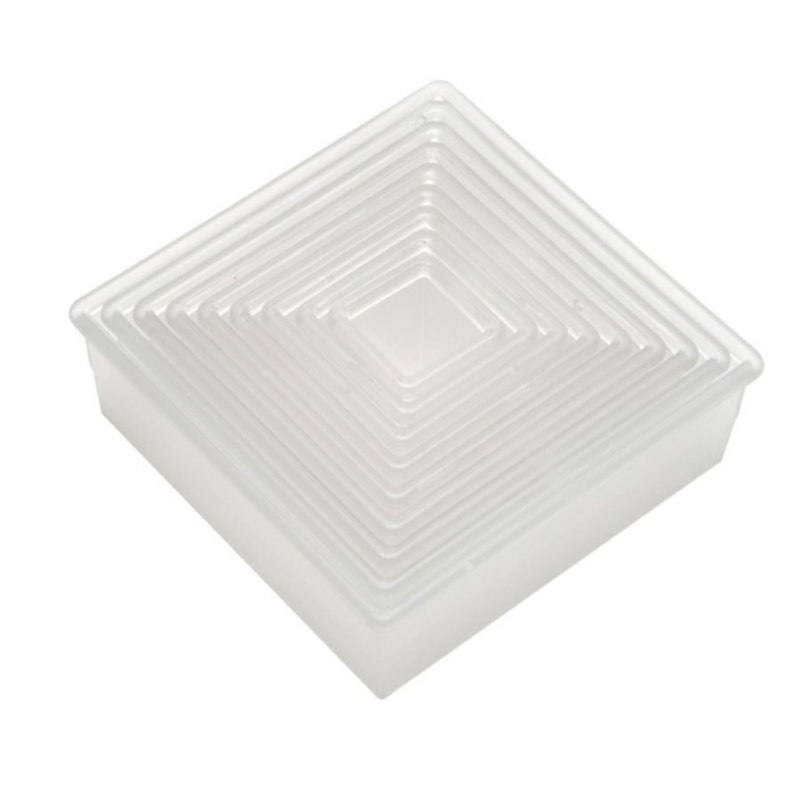 Plain Square Biscuits and Pastry Cutter