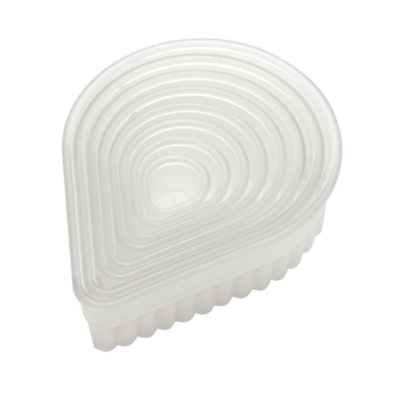 Fluted Teardrop Biscuits and Pastry Cutter