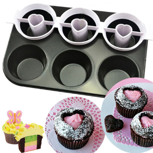 Heart Two-Tone Cupcake Pan Set