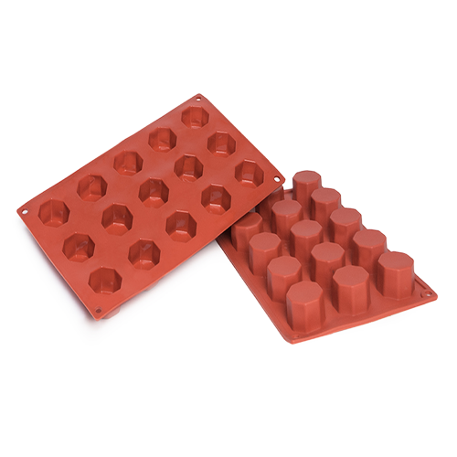 Octagon Silicone Baking Mould 15-Cavity 30ML