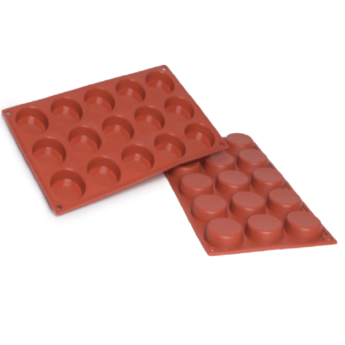 Flan Silicone Baking Mould 15-Cavity 29,6 ML