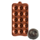 Robed Dimpled Round Silicone Chocolate Mould 15-Cavity