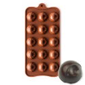 Robed Dimpled Round Silicone Chocolate Mould