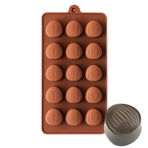 Almond Shape Silicone Chocolate Mould