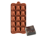 Grooved Square Silicone Chocolate Mould