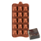 Grooved Square Silicone Chocolate Mould 15-Cavity