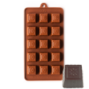 Fluted Square With Flower Silicone Chocolate Mould