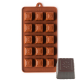 Fluted Square with Flower Silicone Chocolate Mould 15-Cavity