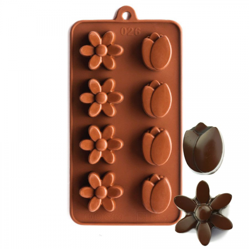 Tuilp and Daisy Silicone Chocolate Mould