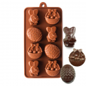 Easter Bunny, Egg and Basket Silicone Chocolate Mould