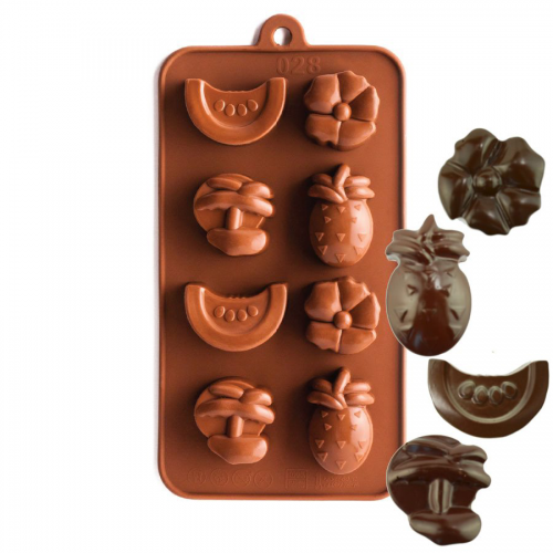 Tropical Fruit Silicone Chocolate Mould