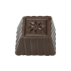 Square with Daisy Polycarbonate Chocolate Mould