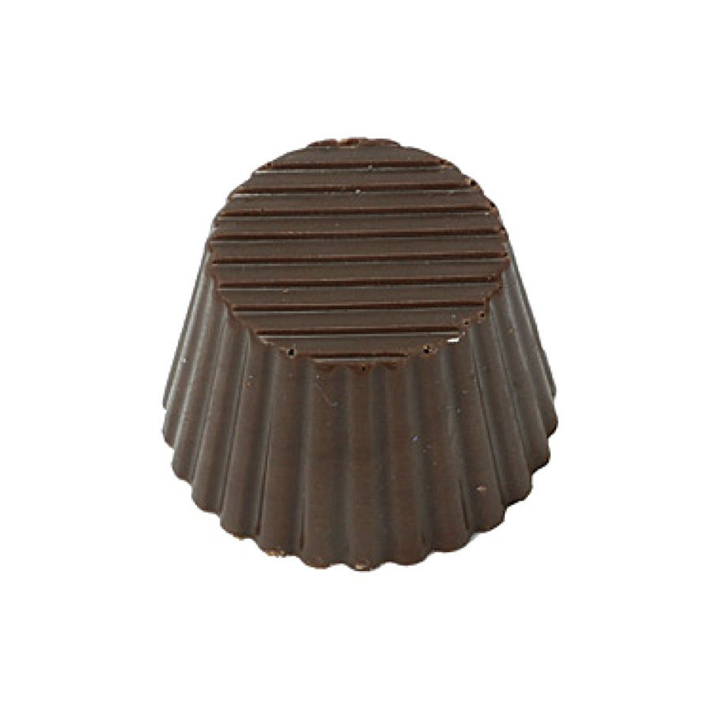 Small Fluted Round Polycarbonate Chocolate Mould