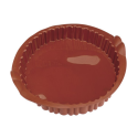 Silicone Round Tart Mould With Fluted Edges