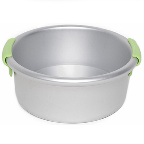 Round Cake Pan With Silicone Handles