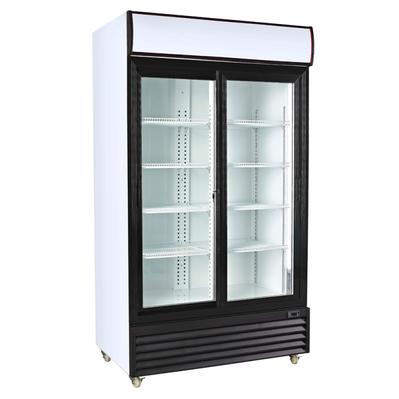 Commercial Glass Double Door Fridge Commercial