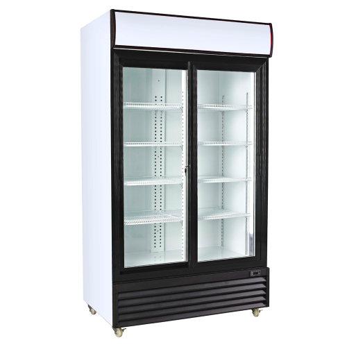 Commercial Glass Double Door Fridge
