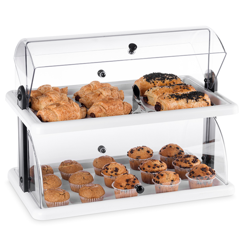 Two Layer Rectangular Acrylic Countertop Bakery Display Case