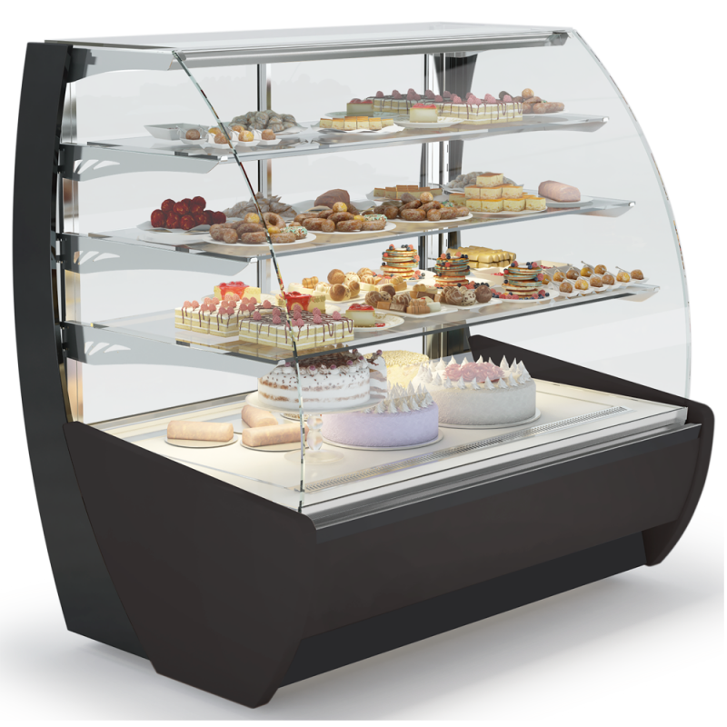 Kameleo Non Refrigerated Display Case Pastry Bakery