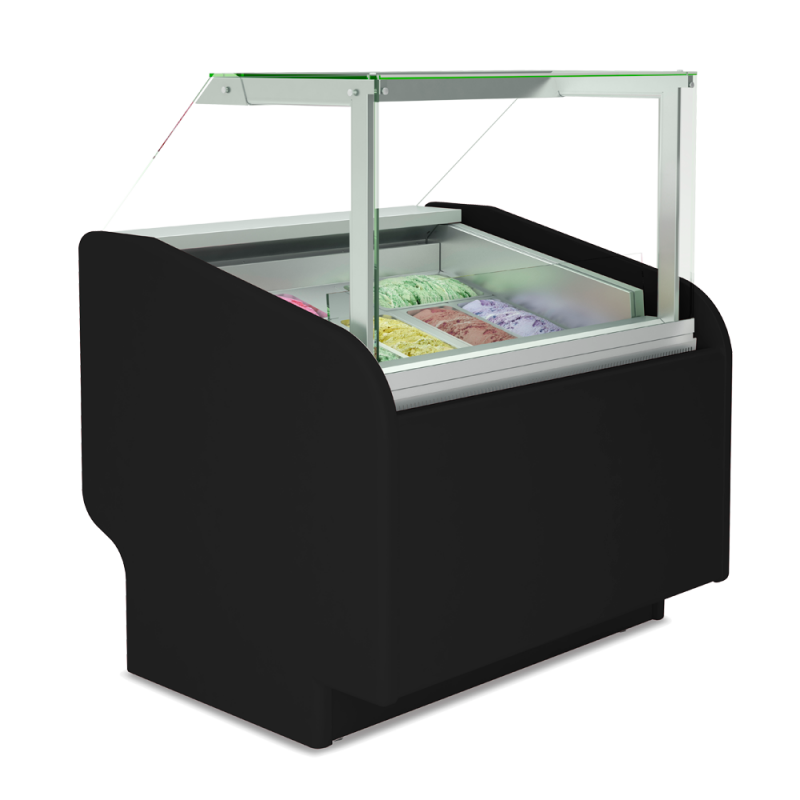 Straight Glass ice cream display case