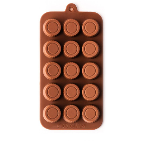Silicone Chocolate Mould Double Round