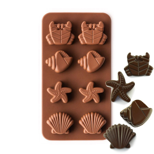 Silicone Chocolate Mould Seashells and Crabs