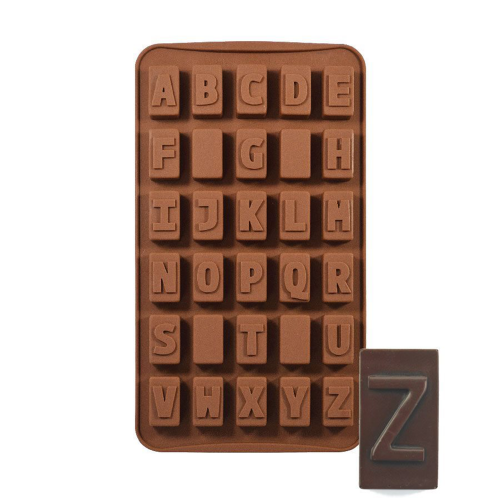Silicone Chocolate Mould Alphabet