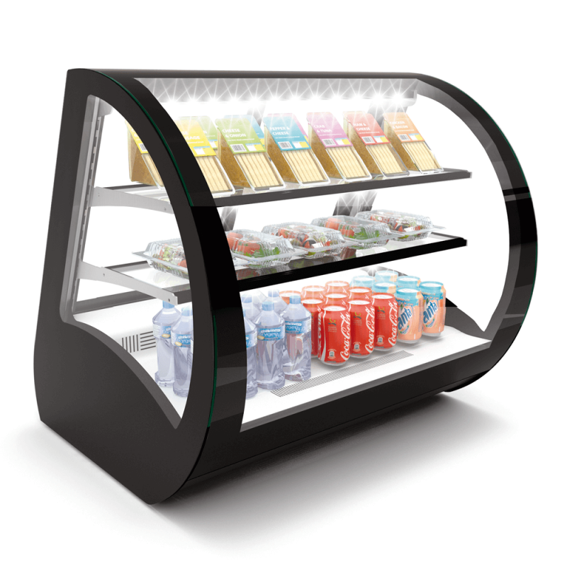 refrigerated chilled display product fridges refrigeration countertops range case countertop rentals