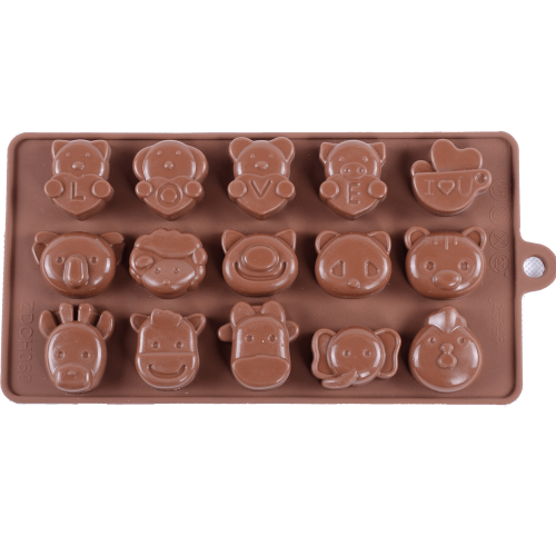 Silicone Chocolate Mould Animals