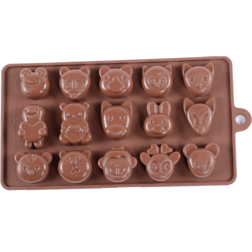 Silicone Chocolate Mould Animals in Zoo