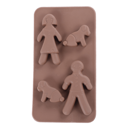 Silicone Chocolate Mould Family with Dog