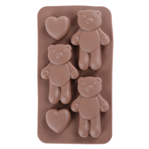 Silicone Chocolate Mould Bear with Heart