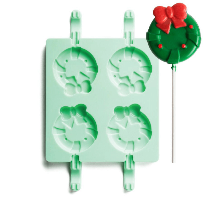 Wreath Shape Silicone Lollipop Mould