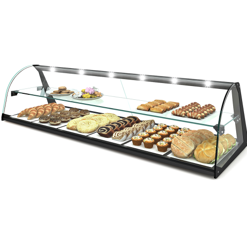 2 Layer Glass Non Refrigerated Display Cabinet E24