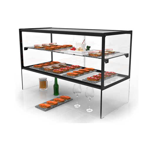 Glass Non Refrigerated Display Cabinet ZEPPELIN