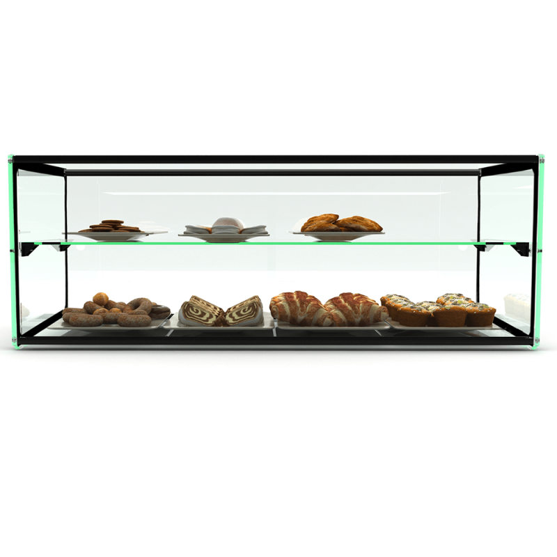 Glass Non Refrigerated Rectangular Display Cabinet EP30D