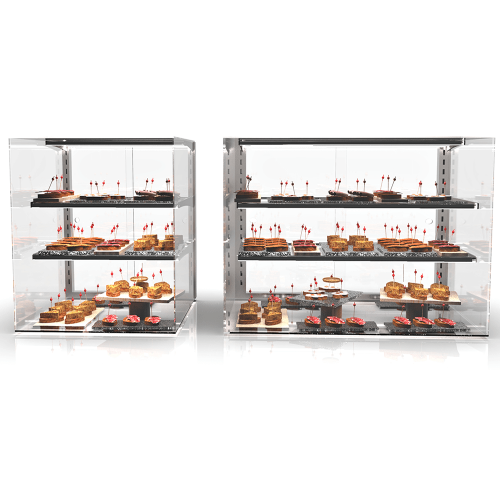 Glass Non Refrigerated Display Cabinet VISION