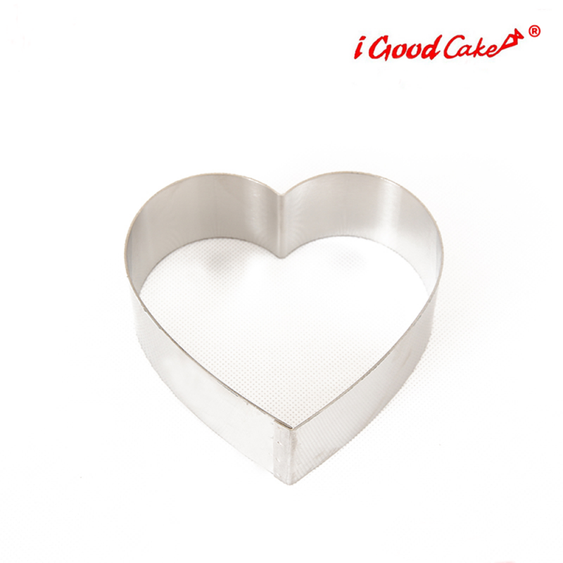 Heart Cake Ring Stainess Steel
