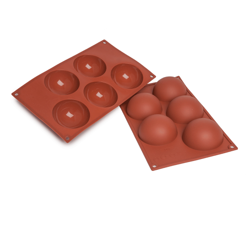 Half Spheres Silicone Baking Mould 5-Cavity 120ML