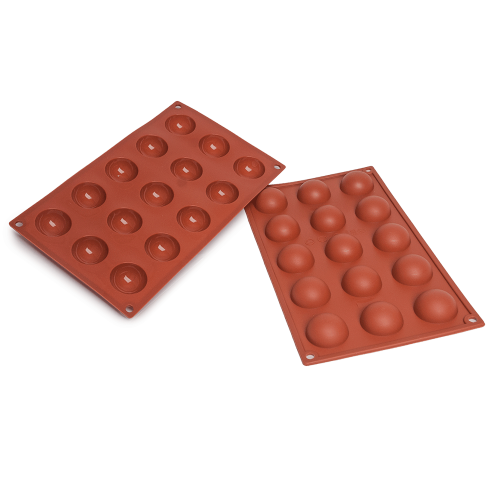 Half Spheres Silicone Baking Mould 15-Cavity 20ML