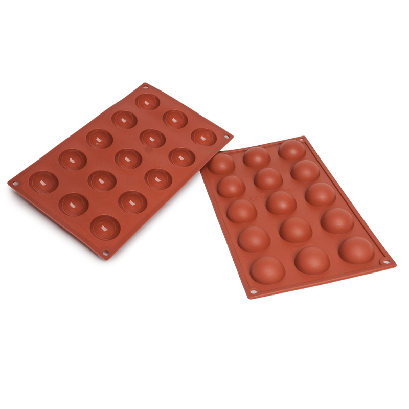 Half Spheres Silicone Baking Mould 15-Cavity 20 ml
