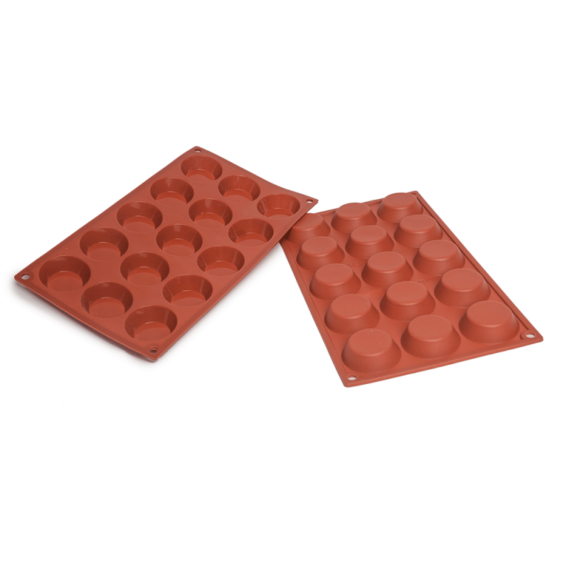 Tartlet Silicone Baking Mould 15-Cavity 26,6 ml
