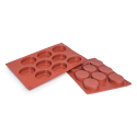 Oval Silicone Baking Mould 9-Cavity 50,3ML