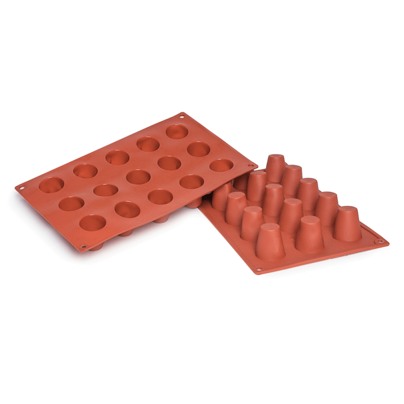 Baba Silicone Baking Mould 15-Cavity 29,6 ML