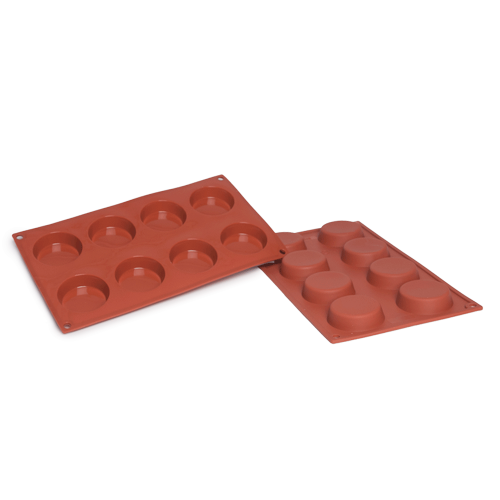 Flan Silicone Baking Mould 8-Cavity 41,4 ML