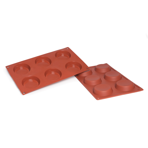 Flan Silicone Baking Mould 6-Cavity 53,2 ML