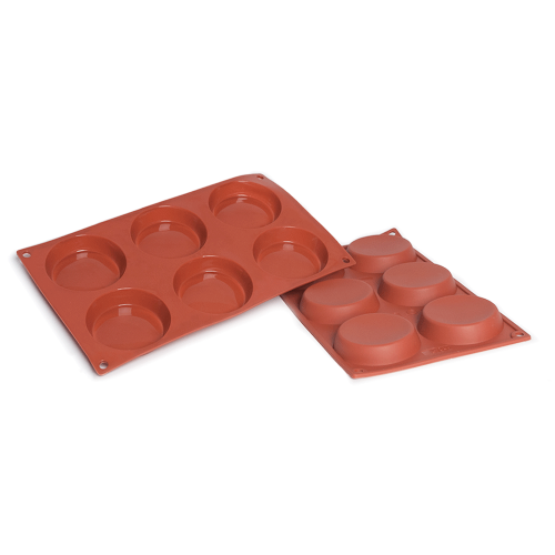 Flan Silicone Baking Mould 6-Cavity 71 ML