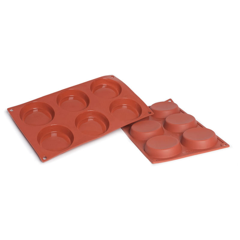 Flan Silicone Baking Mould 6-Cavity 71ML