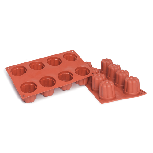 Bavarese Silicone Baking Mould 8-Cavity 130,1 ML